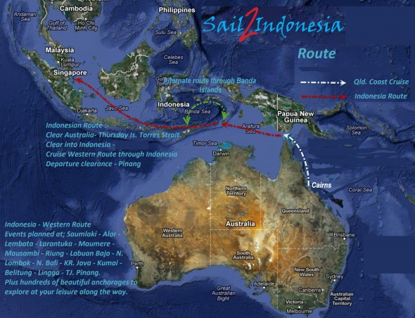 Sail 2 Indonesia Western Sailing Route
